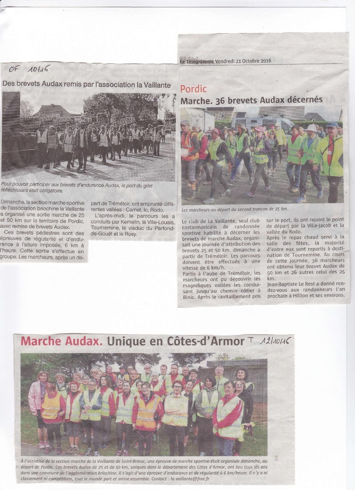 article presse Audax 2016